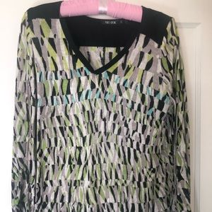 Nic + Zoe light weight long sweater multi color